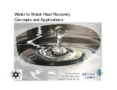 Water to Water Heat Recovery