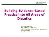 Evidence Based Practice in All