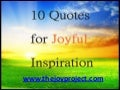 10 quotes for joyful inspiration