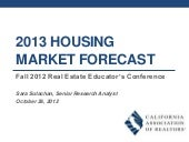 CAR 2013 Housing Market Forceast