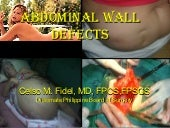 10  Abdominal Wall Defects Dr Fidel