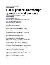 10000 quiz questions and answers