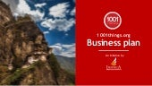 1001 Things About North Bengal , North East India & Bhutan - Business Plan