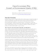 CEQ Open Gov Plan