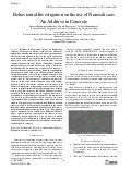 Behavioural Investigation on the use of Nanosilica as An Additive in Concrete