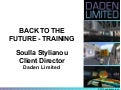 Back to the Future Training (in Virtual Worlds)