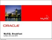 MySQL Breakfast in London - 24 June...