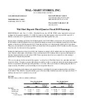 wal mart store Quarterly Earnings R...