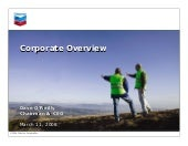 Chevron Corporate Overview