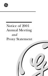 GE# 2001 Proxy Statement (PDF)