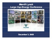 valero energy Merrill Lynch Energy ...