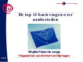 website top 10 basisvragen over aan...