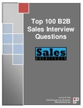 100 b2 b sales interview questions