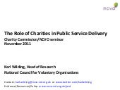 Charities and Public Service delivery