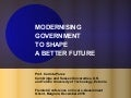 Prof. Carlota Perez – Modernising government to shape a better future