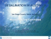 Desalination in Australia - Oct. 11...