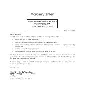 morgan stanley Proxy Statements