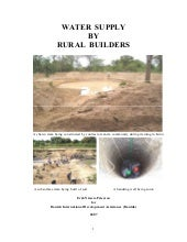 Water supply by rural builders