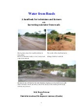 Water from roads