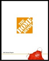 home depot Annual Report 2001