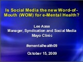 E-Mental Health and Word of Mouth