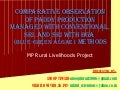 1026 Comparative Observation of Paddy Production managed with conventional, SRI, and SRI WITH BGA  (blue-green algae) Methods. MP Rural Livelihoods Project