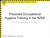 Proposed Occupational Hygiene Train...