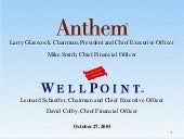 Anthem, Inc Webcast Presentation