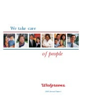 walgreen 2005 Annual Report