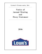 lowe's Proxy Statement 2006