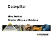 Caterpillar Inc. at Merrill Lynch...