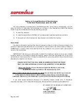 supervalu Proxy Statements 2006