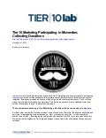 Tier10 Marketing Participating in Movember, Collecting Donations
