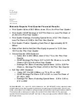Q1 2003 Earnings Release