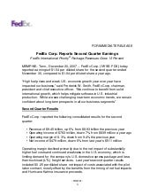 FedEx Corp. Reports Second Quarter ...