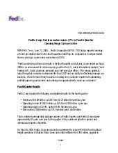 FedEx Corp. Net Income Increases 27...