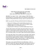 FedEx Reports Strong Revenue and Ea...