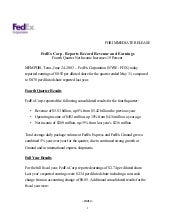 FedEx Corp. Reports Record Revenue ...