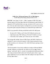 FedEx Corp. Net Income Increases 23...