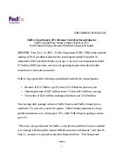 FedEx Corp. Reports 10% Revenue Gro...