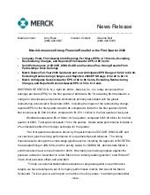 merck  	1Q06 Earnings Release