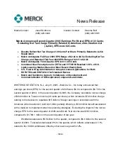 merck 	2Q05 Earnings Release