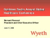 wyeth Goldman Sachs Healthcare Conf...