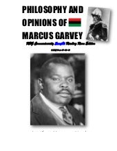 Philosophy and Opinions of Marcus G...