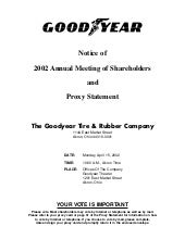 goodyear Proxy Statement 2002