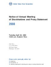U.S. Steel 2008 Proxy Statement