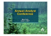 weyerhaeuser 	New York Analyst Meet...