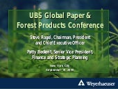 UBS Global Paper and Forest Product...
