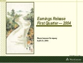 Q1 2004 Earnings Presentation: View...