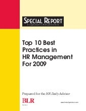 10 Best Practice Hr In 2009